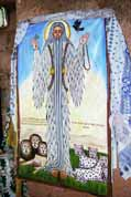 Holy picture at Lalibela stone church. Ethiopia.