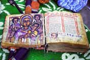 Old Bible written on goat skin. Ethiopia.