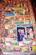 Holy picture at village church. Lake Tana. North,  Ethiopia.