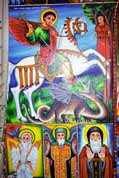 Holy picture at village church. Lake Tana. Ethiopia.