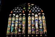 Window at cathedral. S-Hertogenbosch. Netherlands.