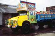 Colorful truck. Bangladesh.