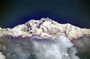 The third highest peak of the world - Kanchendzonga (8586 m). India.