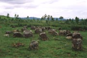 Thong Hai Hin - mystical Plain of Jars (site No.1). Laos.