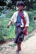 Man returning from market. Inle lake area. Myanmar (Burma).