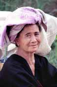 Woman from Pa-O hill tribe. Inle lake area. Myanmar (Burma).
