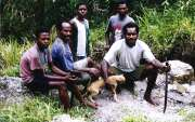 Local people from Wamerek village. Baliem Valley. Papua, Indonesia.