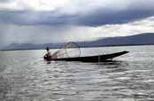 Fisherman at Inle lake. Myanmar (Burma).