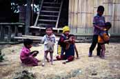 Children at countryside. Area around Kalaw village. Myanmar (Burma).