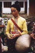 Woman from Tai Dam hill tribe at Muang Sing market. Laos.