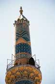 Minaret of Jameh Mosque. Yazd. Iran.