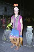 Dayak performing magicman dance. Kalimantan,  Indonesia.