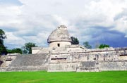Observatory, built 900-1100 A.D. in Maya Toltec Architectural Style, Chichen Itza. Mexico.