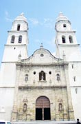 Catedral de la Concepción from 16th century at square at Campeche city. Mexico.