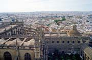 View from the cathedral tower, Sevilla. Spain.