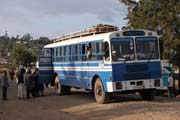 Bus, Hosaina village. South, Ethiopia.