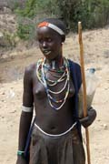 Tsamai woman, around Key Afer. Ethiopia.