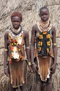 Karo women. South,  Ethiopia.