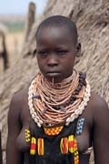 Karo woman. South,  Ethiopia.