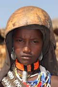 Arbore girl. South,  Ethiopia.