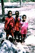 Papua children from Wamerek village. South part of Baliem Valley. Papua, Indonesia.