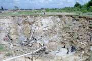 Diamond mining field in Cempaka. Kalimantan, Indonesia.