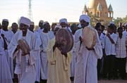 Waiting for whirling dervishes. Hamed-an Nil Mosque, Khartoum (Omdurman). Sudan.