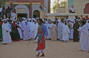 Whirling dervishes. Hamed-an Nil Mosque, Khartoum (Omdurman). Sudan.