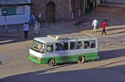 Minibus is used for local transport. Khartoum (Central). Sudan.