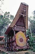 Traditional Toraja architecture. Tana Toraja area. Sulawesi, Indonesia.