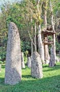 Menhirs - the oldest graves at Tana Toraja area. Sulawesi, Indonesia.