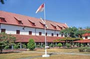 Dutch fort Rotterdam at Ujung Pandang town. Sulawesi,  Indonesia.