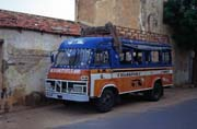 Local bus called taxi-brousse, Podor. Senegal.