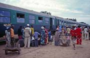 People mummery at one of the few train stops on route Keys-Bamako. Mali.