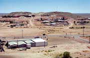 Town Coober Pedy - one of the largest opal mines at world. Australia.
