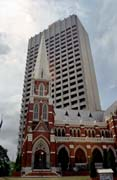 Contrasts at Brisbane - modern and classic architecture. Australia.