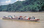 Typical ship on the Rejang river. Malaysia.
