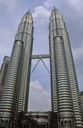 Petronas Twin Towers - one of the highest buildings at the world. Kuala Lumpur city. Mainland,  Malaysia.