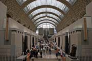 Musée d'Orsay, the museum building was originally a railway station. Paris. France.