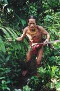 Mentawai man from Siberut island. Indonesia.