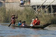 Traditional life at Inle Lake. Myanmar (Burma).