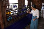 Traditional weaving factory, Inle Lake. Myanmar (Burma).
