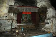 Cave which is home of several monks. Villages around Inle Lake. Myanmar (Burma).