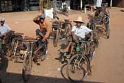 Rikshaws. South of Yangon. Myanmar (Burma).
