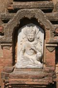 Relief at one of the Temples of Bagan. Myanmar (Burma).