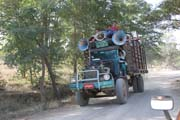 Local transport on the way to Chin State. Myanmar (Burma).