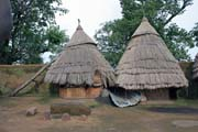 Upper floor of tata somba house - granaries and bedrooms. Boukoumbé area. Benin.