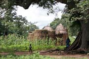Traditional house of Somba ethnic called tata somba. They look like small fortified castles. Boukoumbé area. Benin.