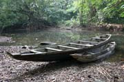 Lobe River is one of the most spectacular nature areas where you can take a canoe ride to the a pygmy settlement. Cameroon.