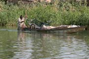 Life around Chari river inflow of Lake Chad. Cameroon.